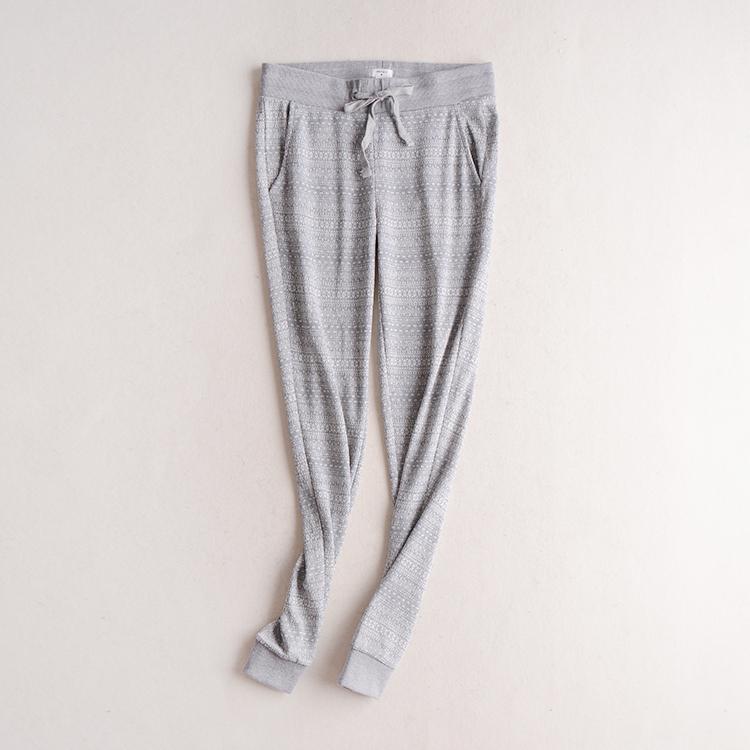 D6 осенью женщин новый Корейский моды серый досуг досуг Джокер комфортно упругие талии тренировочные брюки