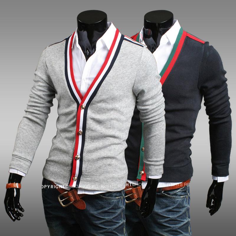 Падения 2013 новый Корейский моды плюс размер специальных мужчин свитер джемпер мужской свитер пальто