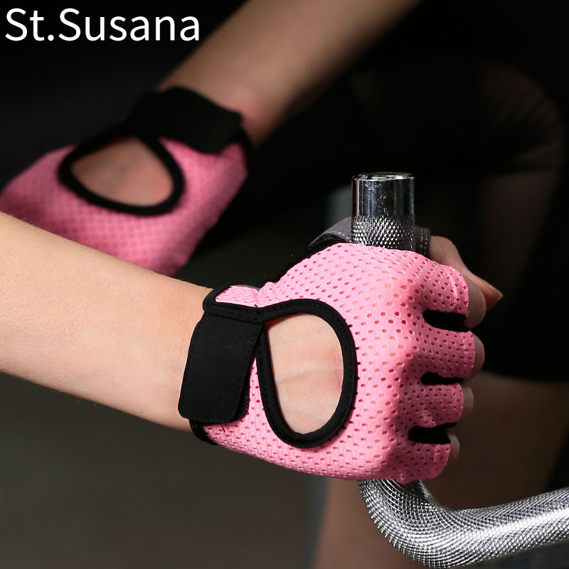 Fitness Gloves female half finger Yoga breathable anti slip wear-resistant dynamic cycling equipment training exercise thin sports gloves