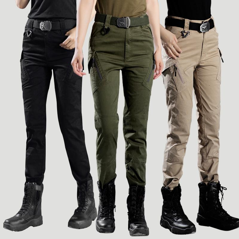 高腰工装裤女式帅气弹力休闲军装裤(用5元券)