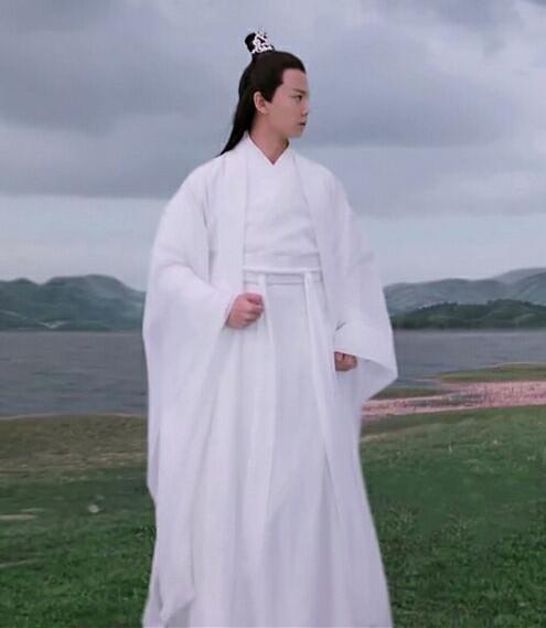 128.60元包邮汉唐古装汉服男女交领长袍白色中国风学生唐朝公子写真重回古风
