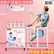 促销台展示架便携折叠移动超市宣传摆地摊车试吃展台广告地推桌子