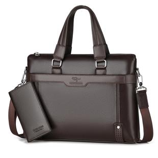 翰威袋鼠男包男士手提包包商務手拿公文包男真皮包單肩包斜挎揹包