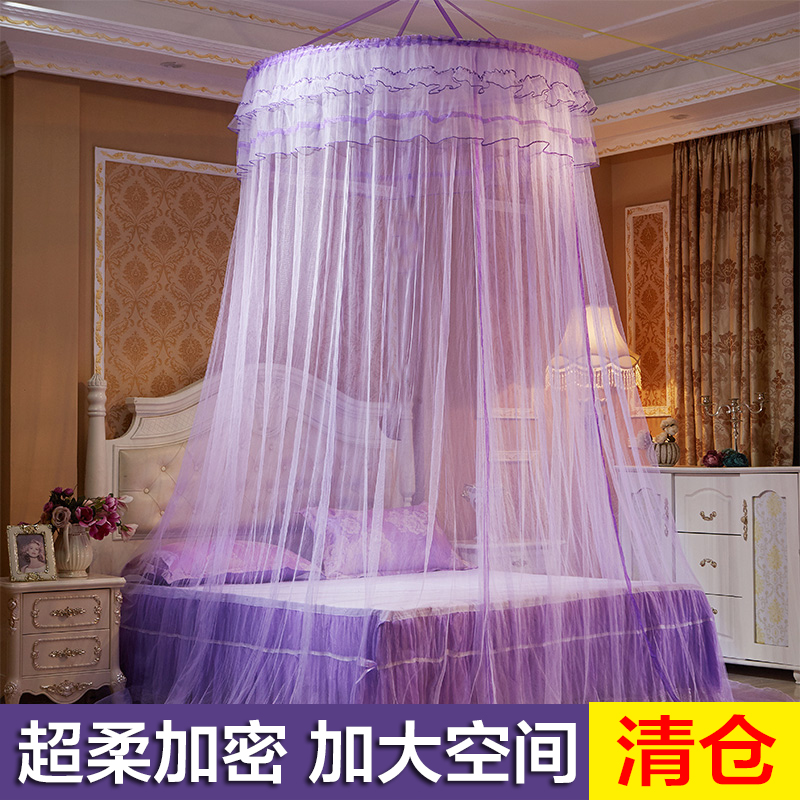 Mosquito net suspended ceiling suction dome installation free single and double 1.5 / 1.8m bed household Princess wind 1.2m Palace