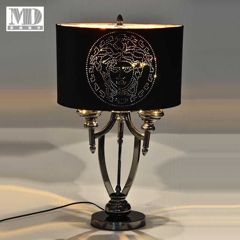 后现代美式台灯客厅卧室床头灯欧式创意轻奢新古典现代书房台灯