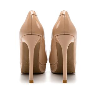 裸色超女2021年新款性感细跟高跟鞋