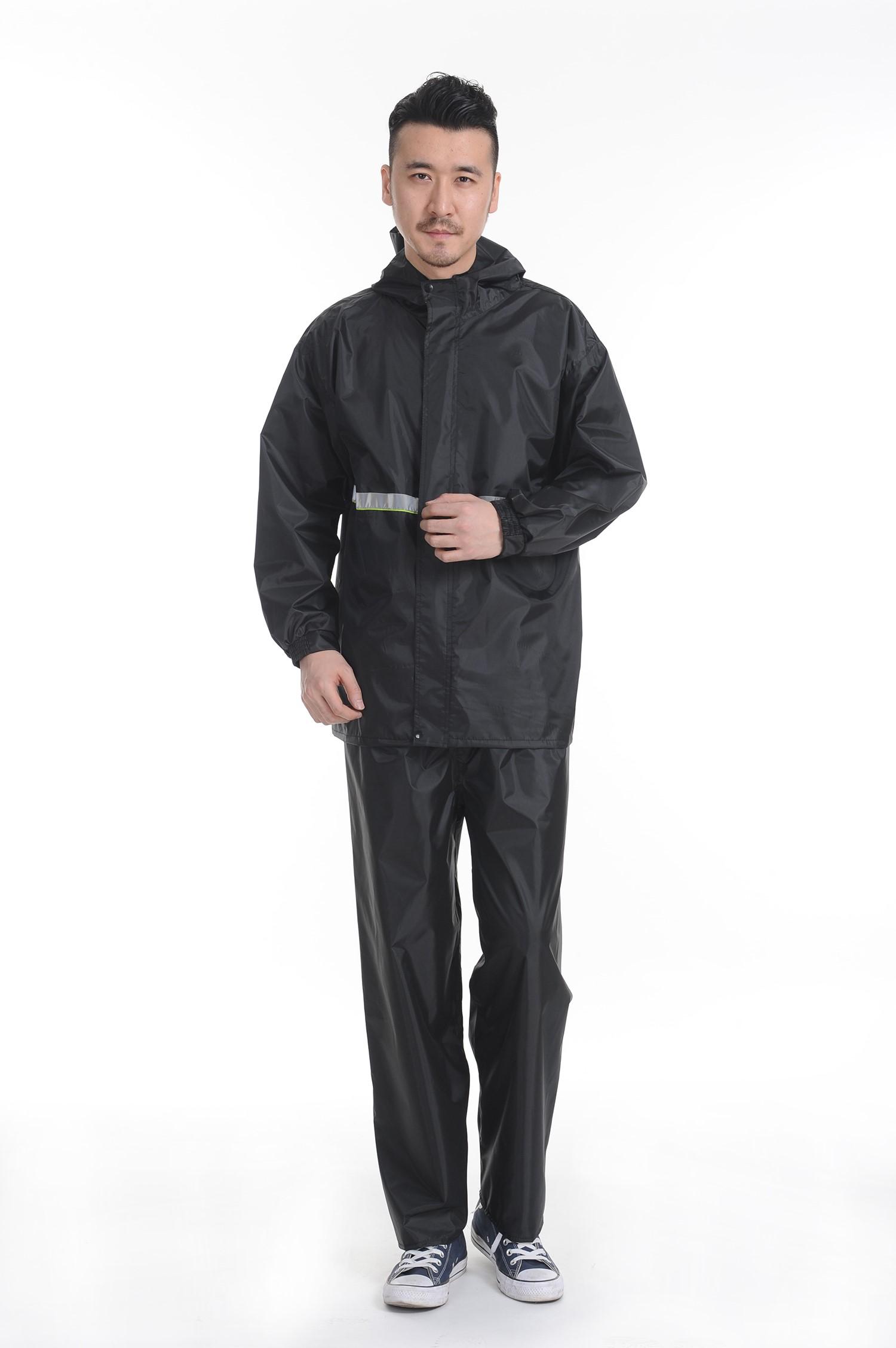 防潮分体成套男加厚雨具女全身外卖服雨衣工作服两件防雨外套透气