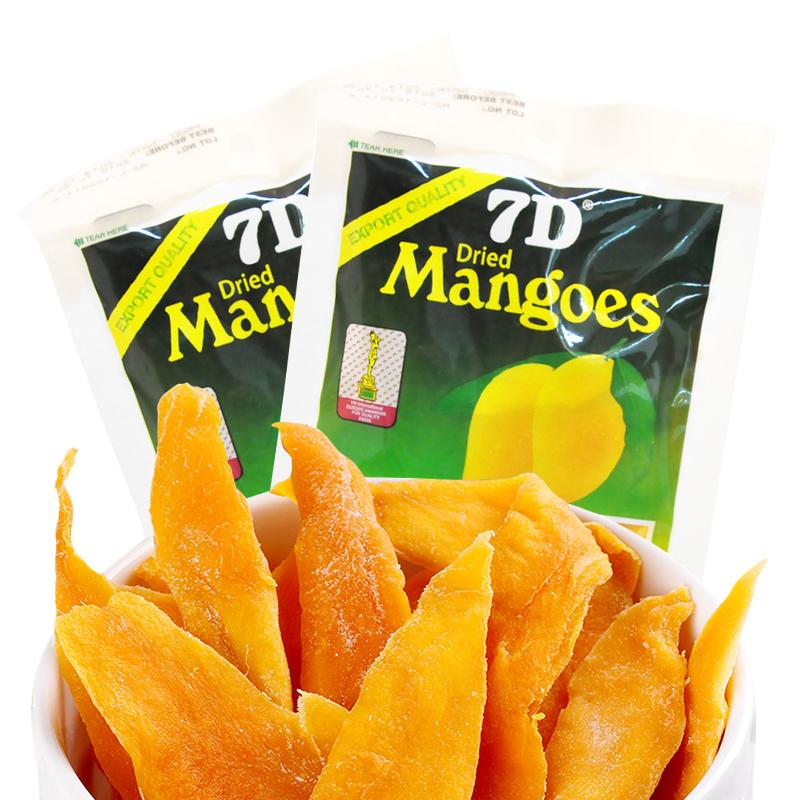新鲜日期 菲律宾进口7D芒果干100g蜜饯水果干办公室休闲零食品图片