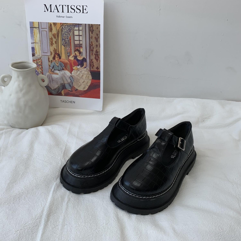 王小兔 韩国ulzzang小皮鞋女复古学院风阿希哥同款厚底学生玛丽珍