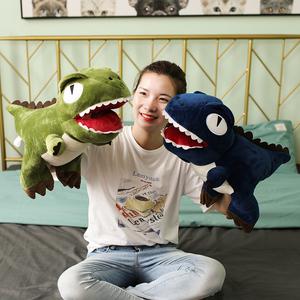 可爱恐龙暖手抱枕公仔插手毛绒玩具霸王龙捂手玩偶娃娃女生睡觉抱
