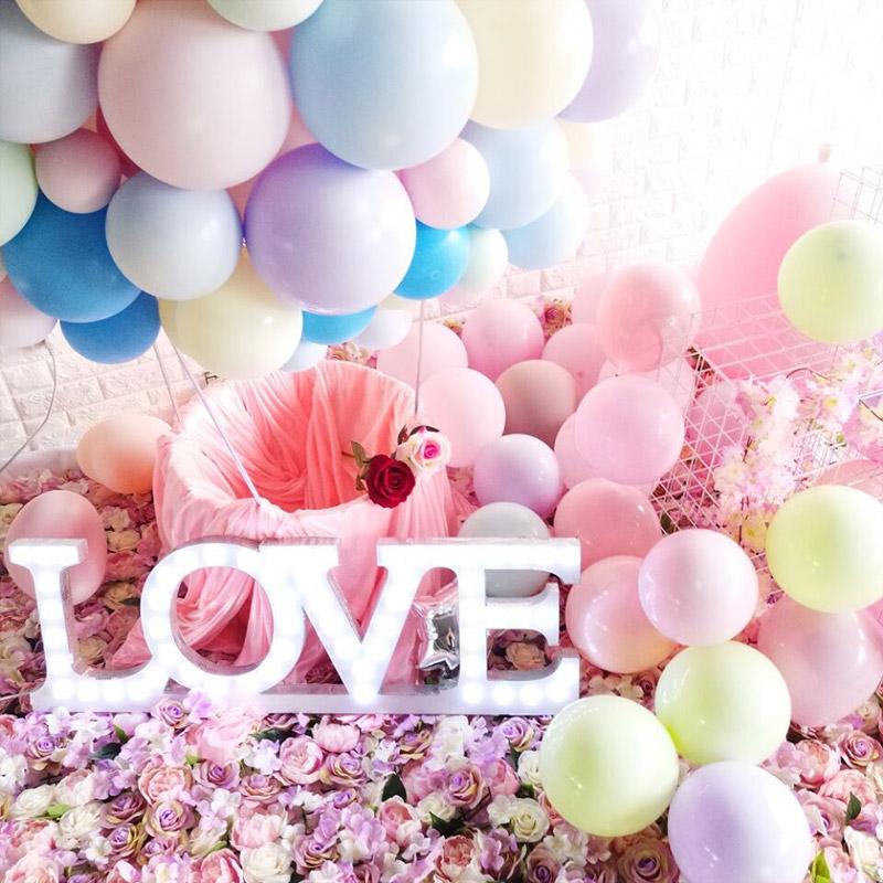 热销218件包邮马卡龙气球装饰生日派对结婚用品