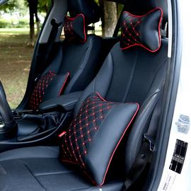汽车头枕护颈枕一对四季车内枕头车颈枕腰靠套装车载用品座椅靠枕