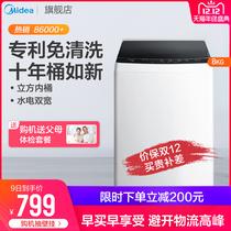 Midea美MB80ECO8公斤kg波轮小型洗衣机全自动家用大容量