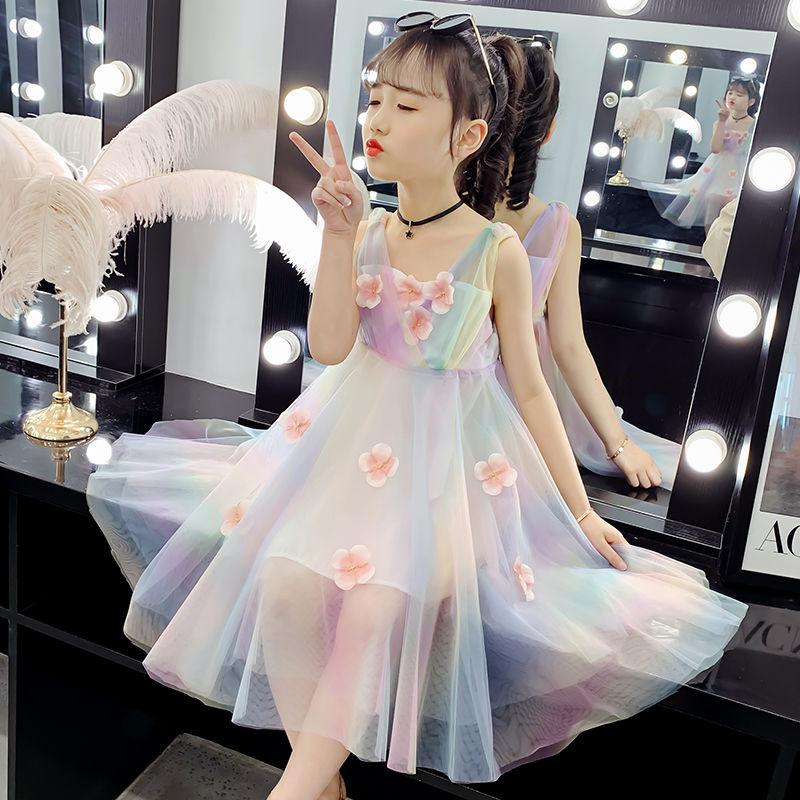 女童连衣裙春夏装2021新款儿童裙子超仙蓬蓬纱中大童装夏季公主裙