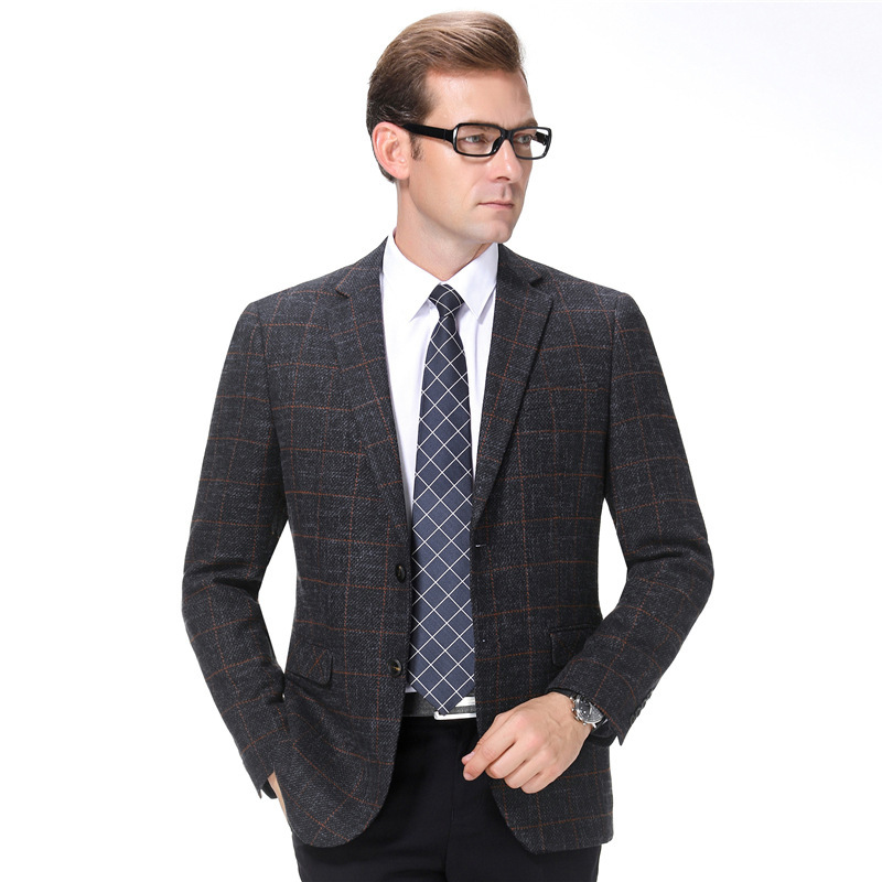 Crazy grab ouana autumn winter mens suit dads suit middle-aged and elderly business leisure single Western coat brand