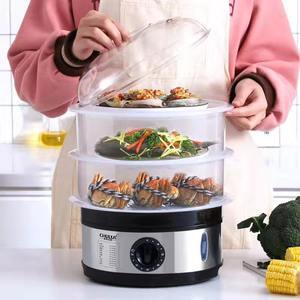 厨莱克斯大容量蒸锅家用电蒸笼电蒸锅定时电蒸笼三层蒸笼电蒸锅