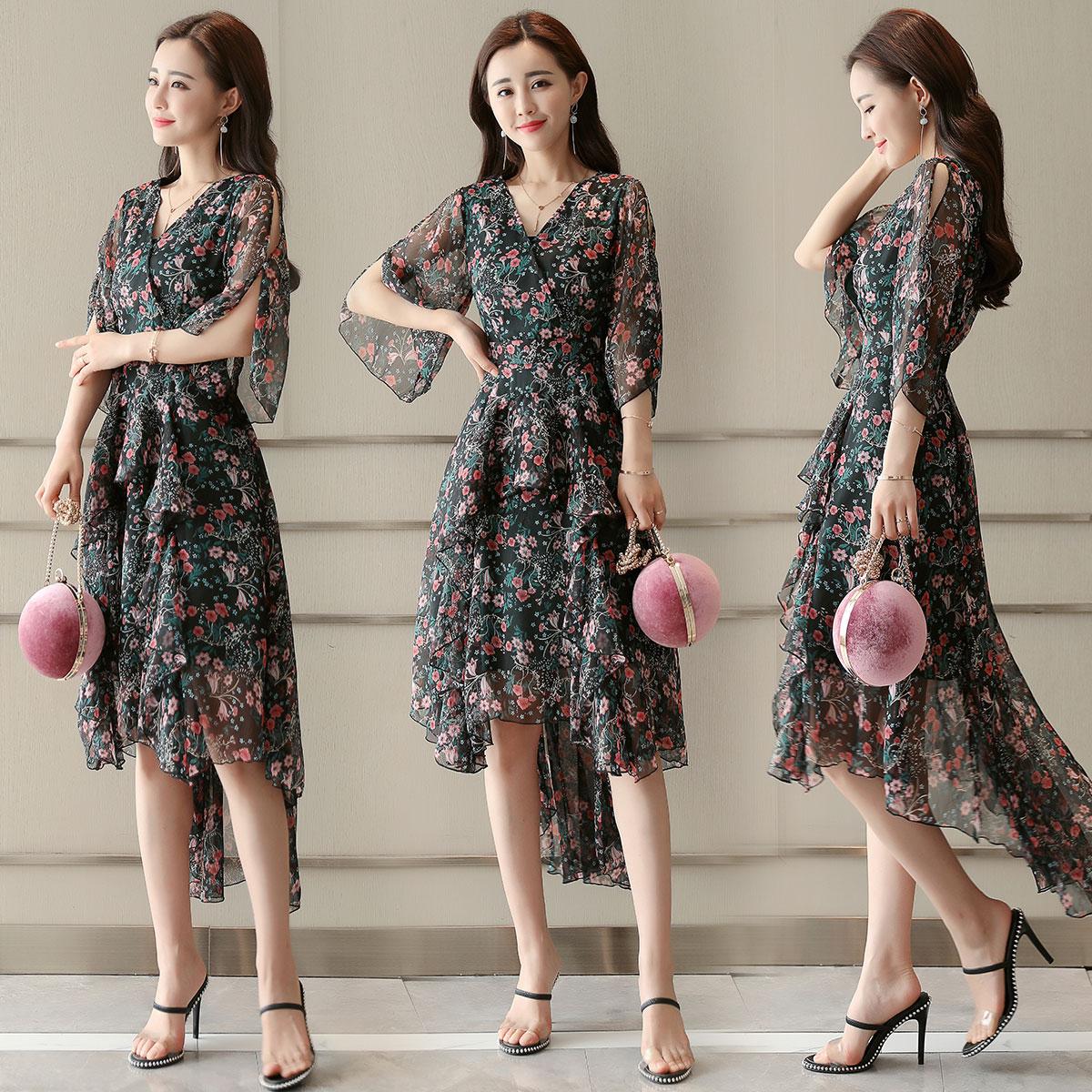 国际大品牌高端女装奢华欧美高端大牌韩范欧洲站欧美时尚连衣裙