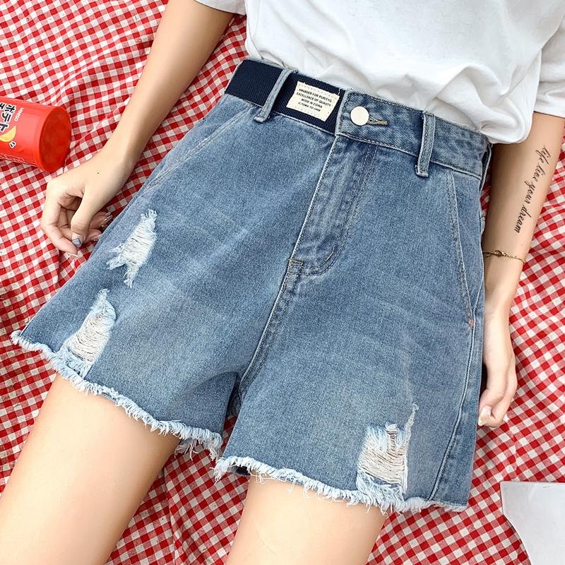 大码胖妹妹适合胯大腿粗的牛仔短裤(用230元券)