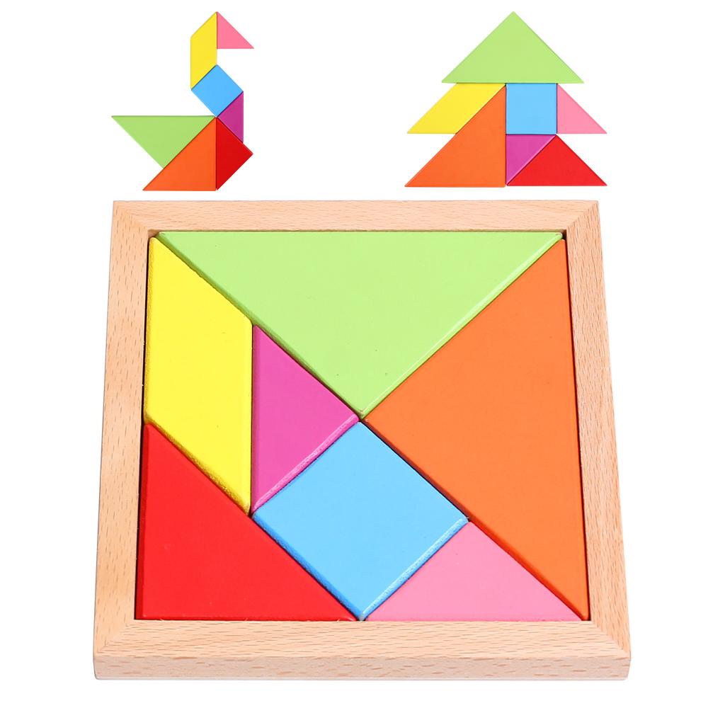七巧板智力拼图儿童古典玩具小学生创意几何形状积木益-儿童玩具(星屿地球仪旗舰店仅售6元)