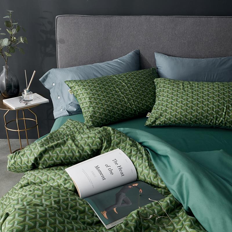 美缪60S长绒棉全棉四件套 轻奢风GYD美式1.5m1.8米高支棉床上用品