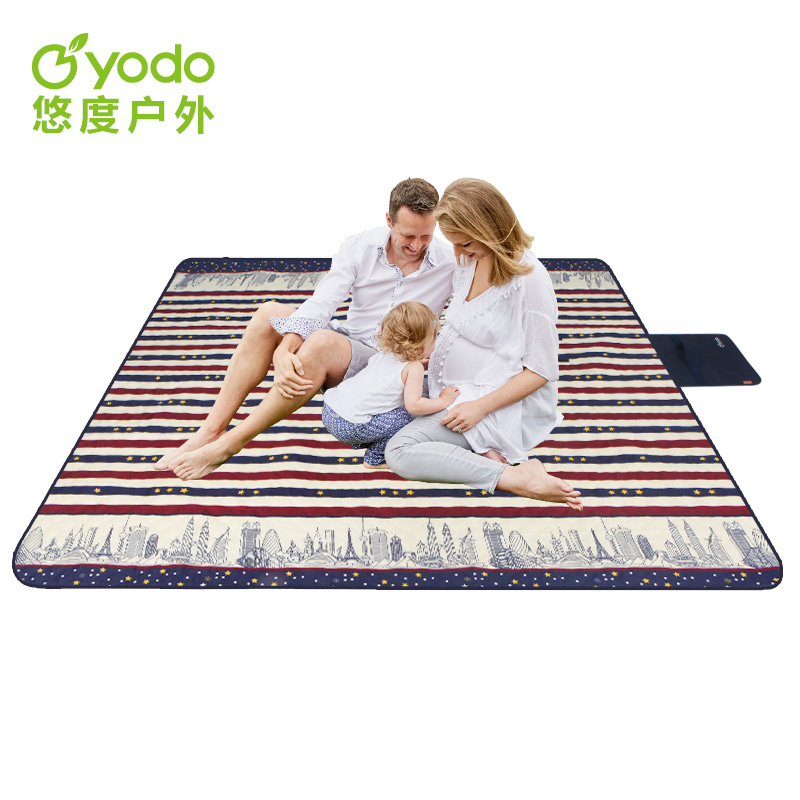Youdu outdoor machine wash picnic mat thickened ultrasonic moisture-proof mat camping tent picnic portable spring outing mat package mail
