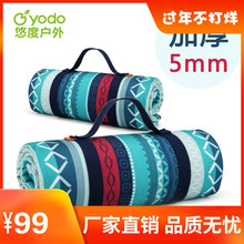 Outdoor machine washable picnic mat ins wind thickened Oxford cloth mat tent picnic portable spring outing moisture-proof mat