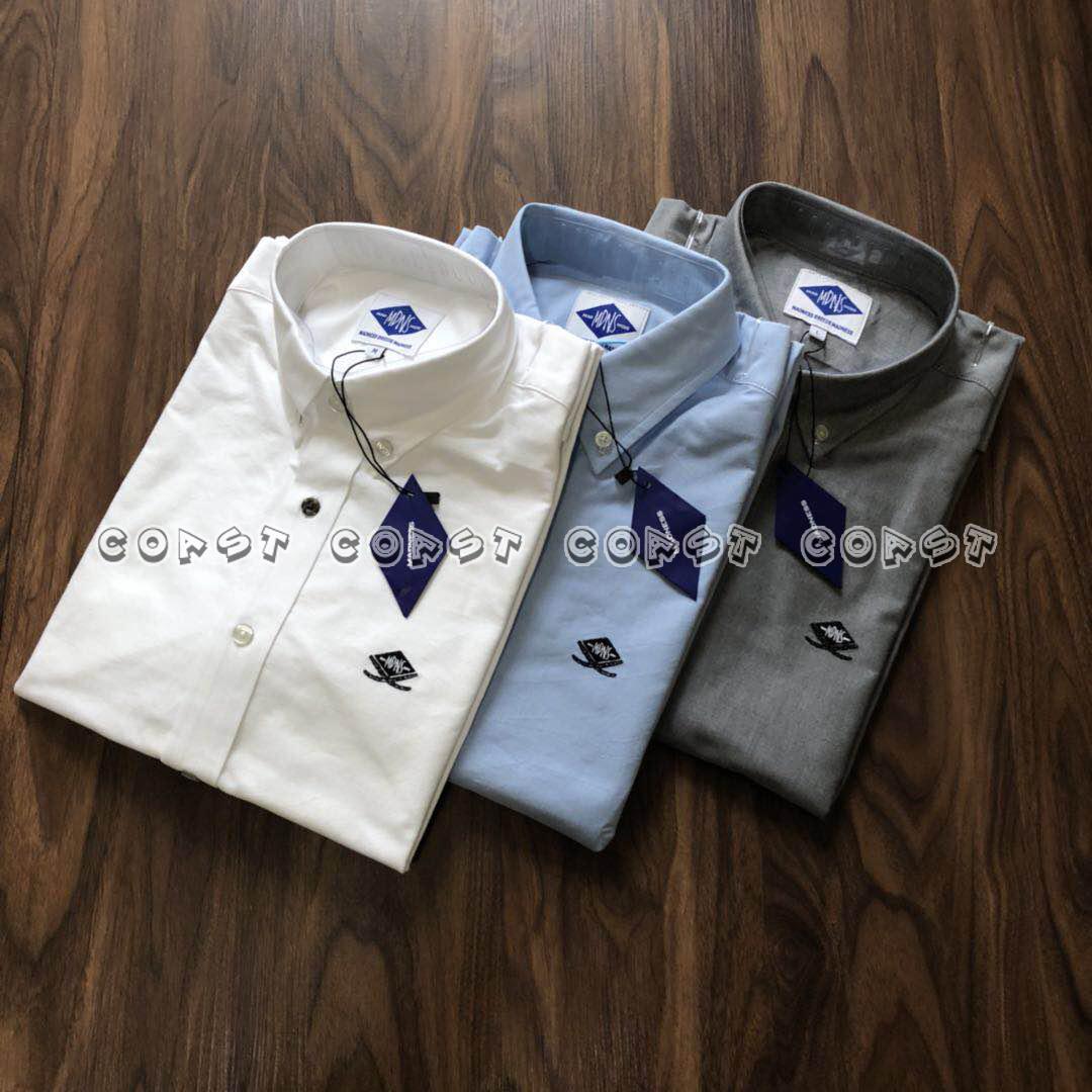 「现货」MADNESS OXFORD SHIRT 17AW 双刀刺绣长袖牛津衬衫余文乐
