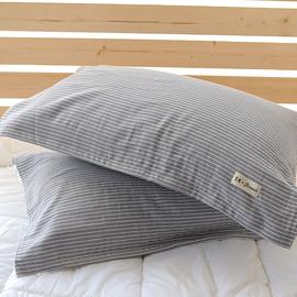 日式枕巾纯棉纱布加厚加大特价柔软全棉情侣亲肤枕头巾一对装包邮