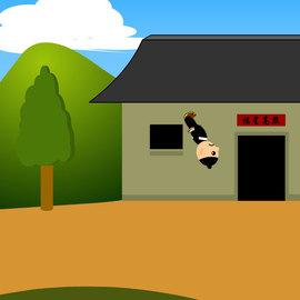 锻炼身体的小人踢腿后空翻20秒flash动画源文件图片