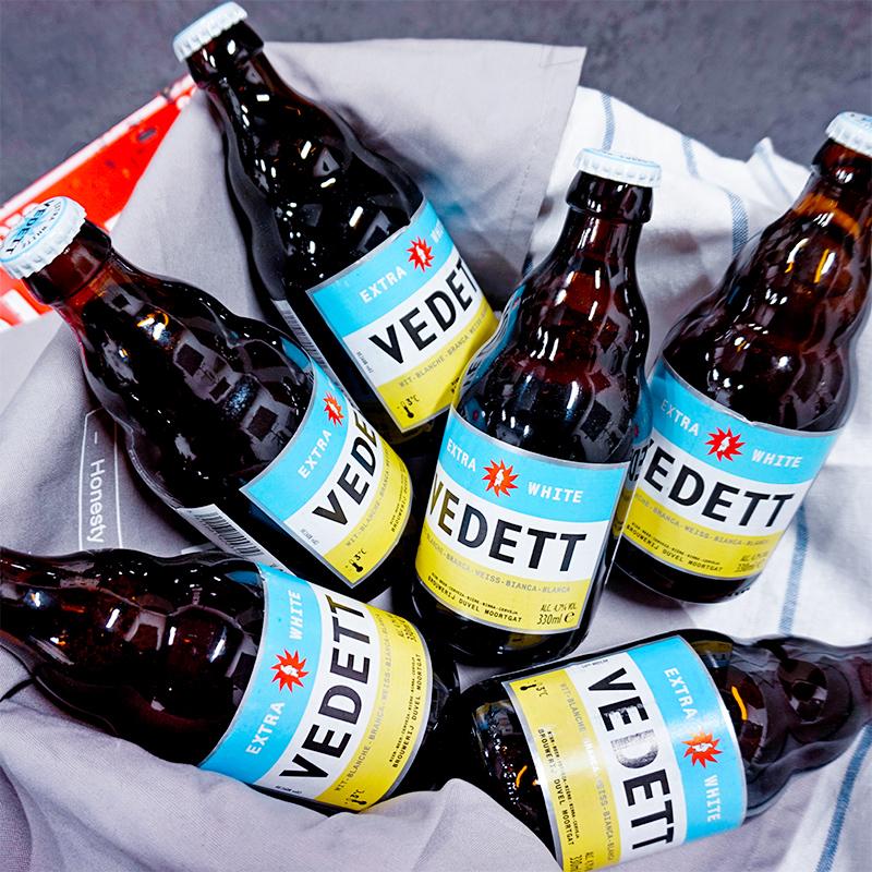 日期新鲜!比利时进口精酿白熊啤酒Vedett extra white330ml*6瓶