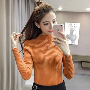 799#2017新款韩版加厚包芯纱套头打底毛衣女潮