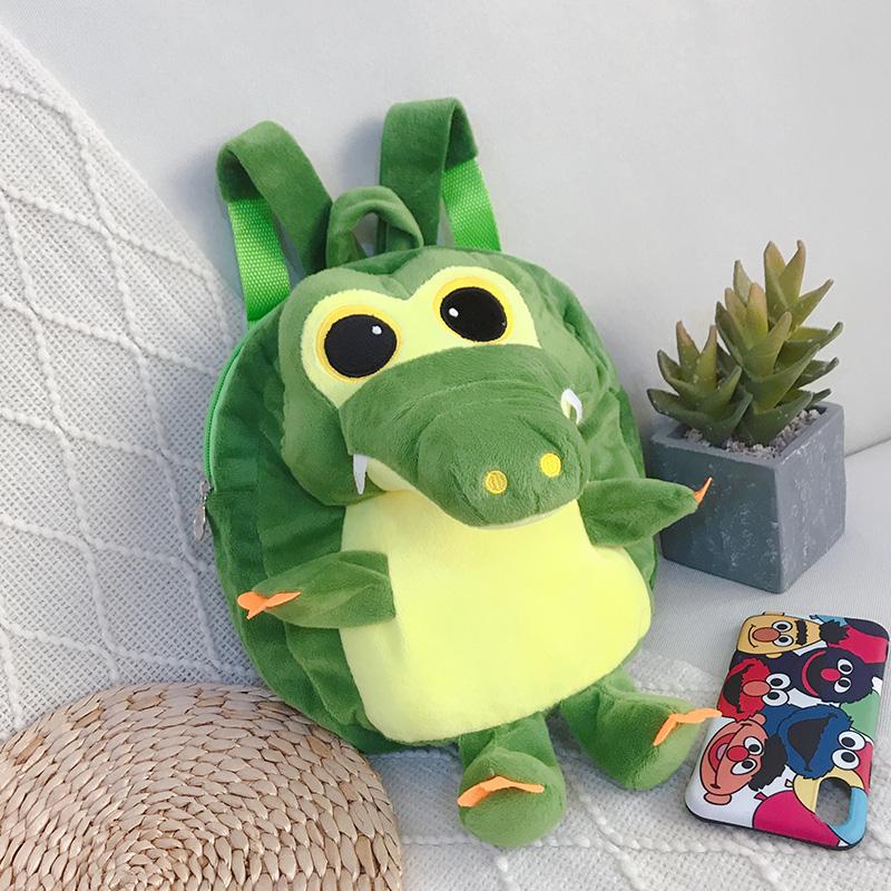 Korean Version cute baby backpack boys and girls children Mini schoolbag 1-3 backpack Plush crocodile