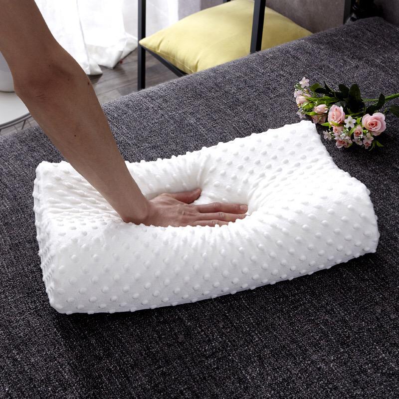 【送枕套】天然太空记忆枕乳胶枕可拆洗慢回弹家用防螨护颈保健枕