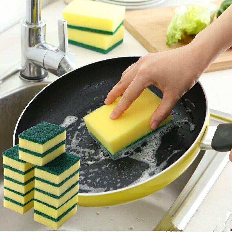 【超值20片装】好家源洗碗海绵擦百洁布清洁刷锅刷碗布洗碗布神器
