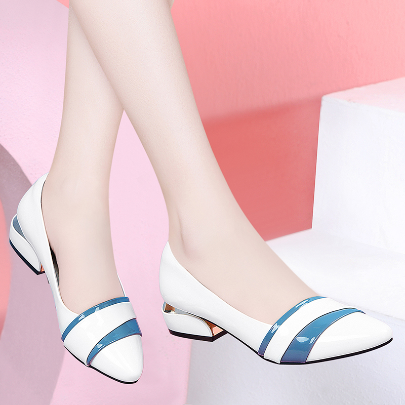 Baotou single shoes 2020 new autumn one foot kick shoes thick heel womens fashion sandals fashion with skirt