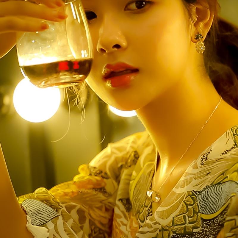 新款菠萝耳环个性时尚925银针水果耳钉韩国耳坠清新百搭耳饰时尚