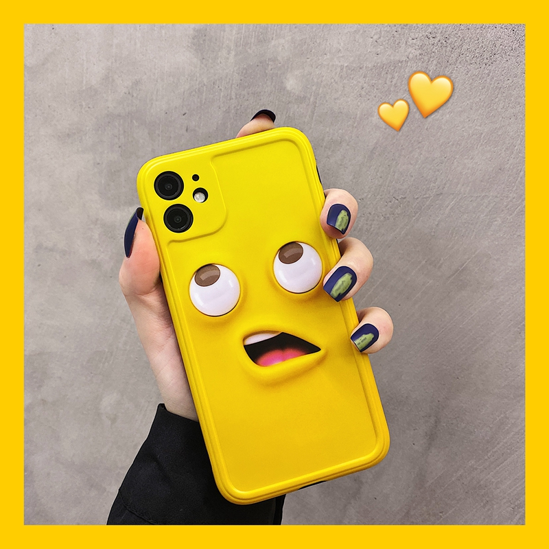 Fun cartoon little yellow man iPhone 11pro Max Apple X / XS / XR mobile phone case iPhone 7 / 8p Japanese and Korean fashion men and womens creative new ins wind proof soft shell protective cover