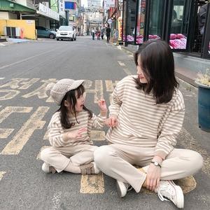 儿童毛衣2019秋款童装韩版男童毛衣婴儿针织衫女童秋冬条纹亲子装