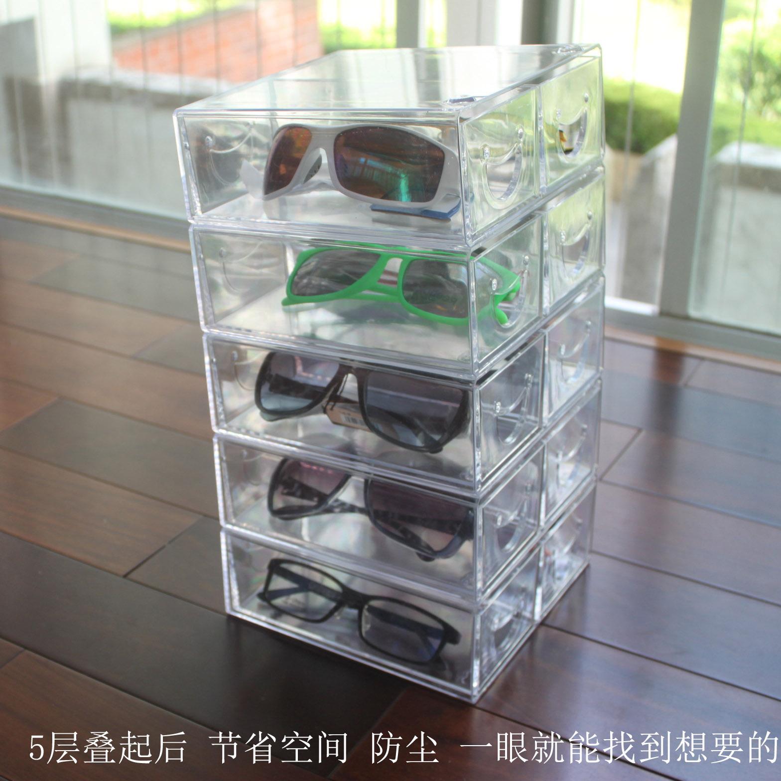 Рабочий стол многослойный очки темные очки лента лента аксессуары хранение полка ящик очки хранение шоу чэн строка кабинет
