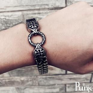 復古韓版潮編織抖音克羅伈手鍊男士青少年簡約時尚學生十字架手飾