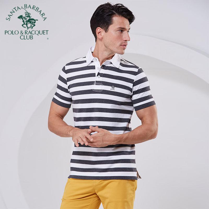 S. Paul business stripe short sleeved mens T-shirt