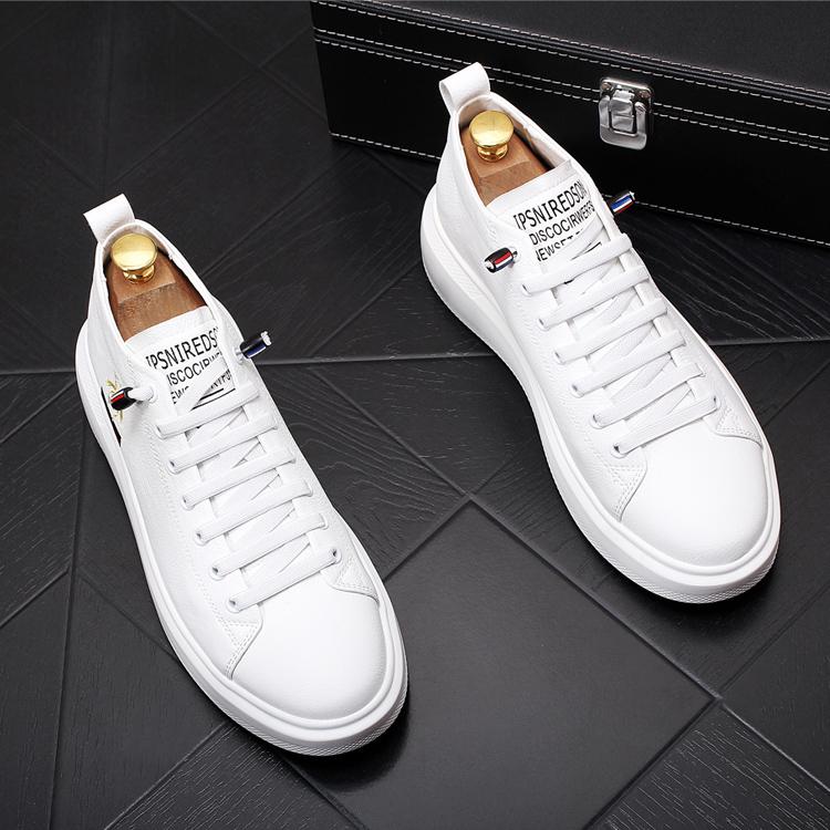青年小白鞋子厚底内增高休闲鞋百搭男士乐福鞋松糕底潮鞋青年板鞋