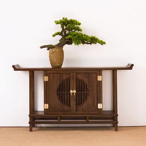 新中式玄关柜实木隔断玄关桌装饰客厅条几靠墙案台禅意端景台供桌