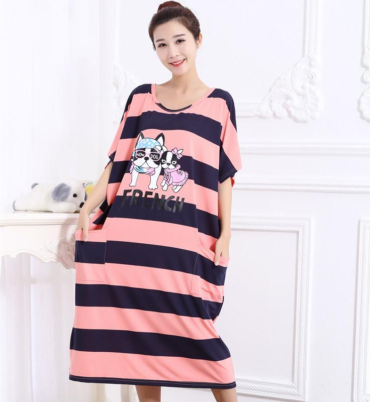 29.00元包邮女夏加肥加大码纯棉200斤韩版睡裙