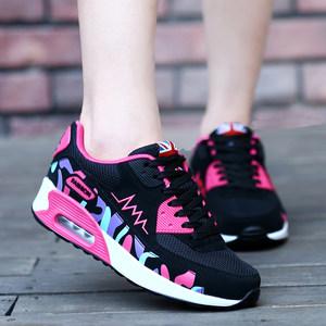 2020春秋季厚底韩版气垫鞋潮运动鞋女学生休闲跑步鞋女旅游鞋透气