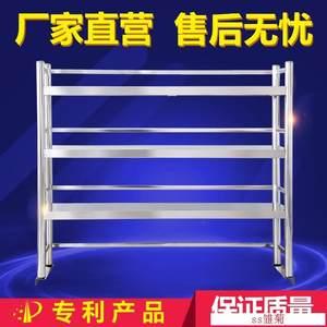 围栏工作台架子台面立架带围边操作可调节1.8m包装置物打荷台饭店