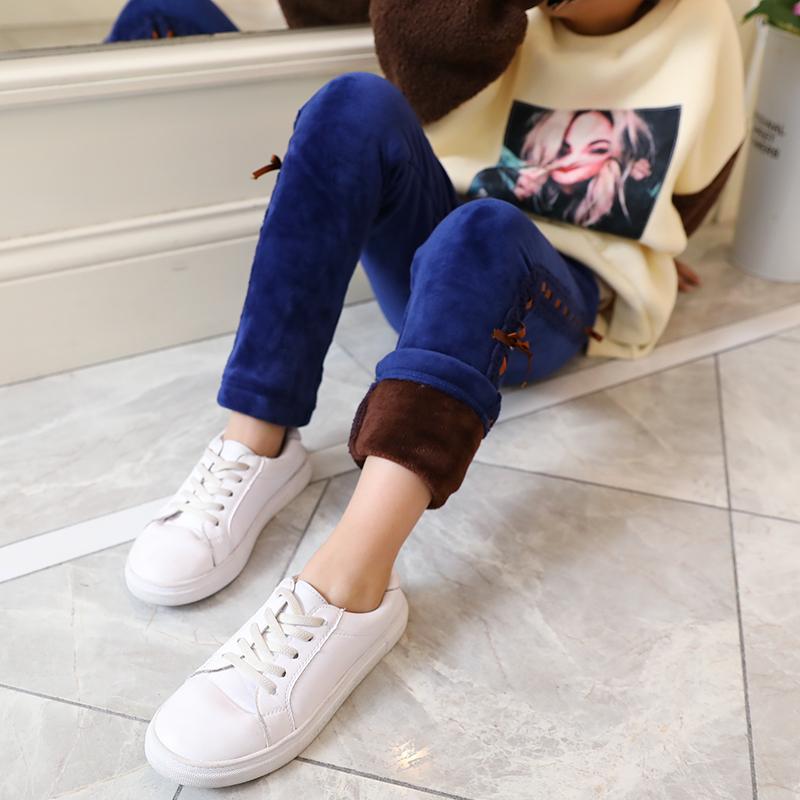 女童裤子2018冬季新款加绒加厚长裤洋气中大儿童保暖外穿打底裤潮