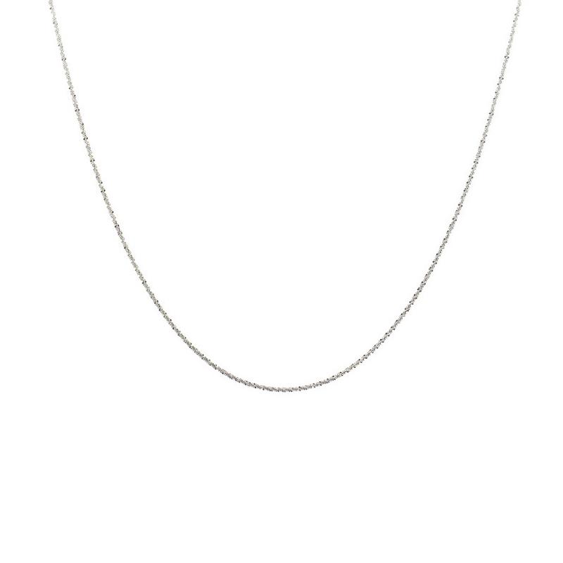 Dream carat 18K gold necklace gorgeous 42cm clavicle chain 18K gold necklace female