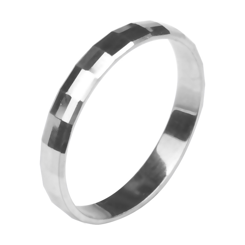Dreamcarat pt950 platinum small fresh faceted shining ring womens platinum simple ring modern