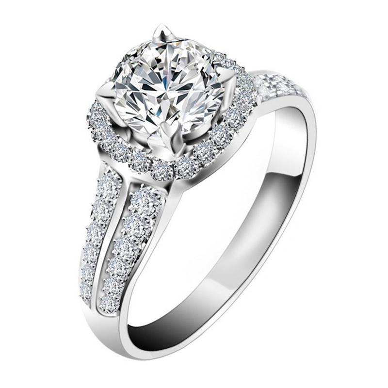 Dream carat 18K gold platinum 20 point ring, empty ring, empty diamond ring, proposal, custom lettering
